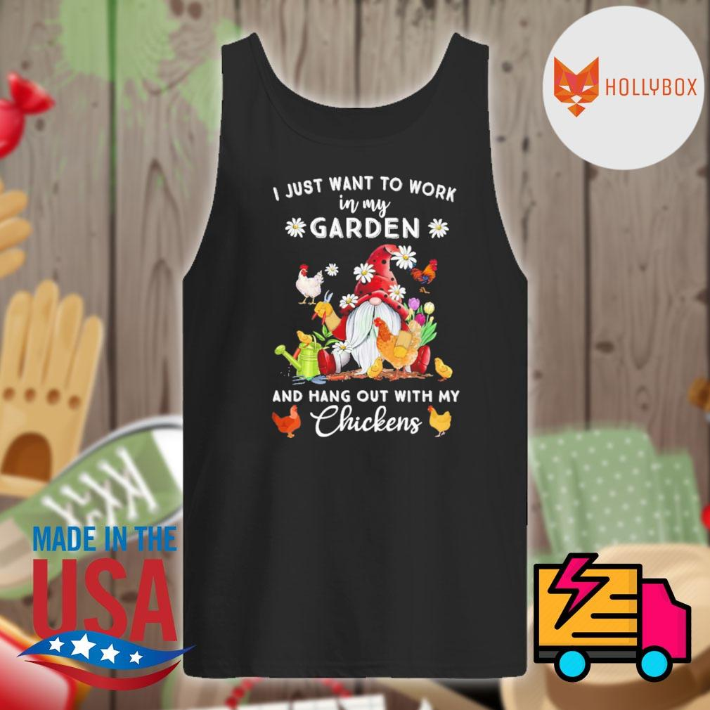 Gnomie I just want to work on my farm and hang out with my chickens s Tank-top
