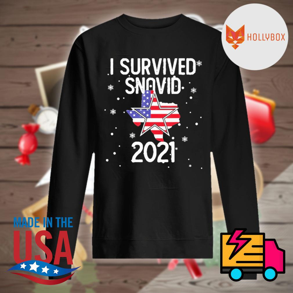 I survived Snovid 21 Texas flag s Sweater