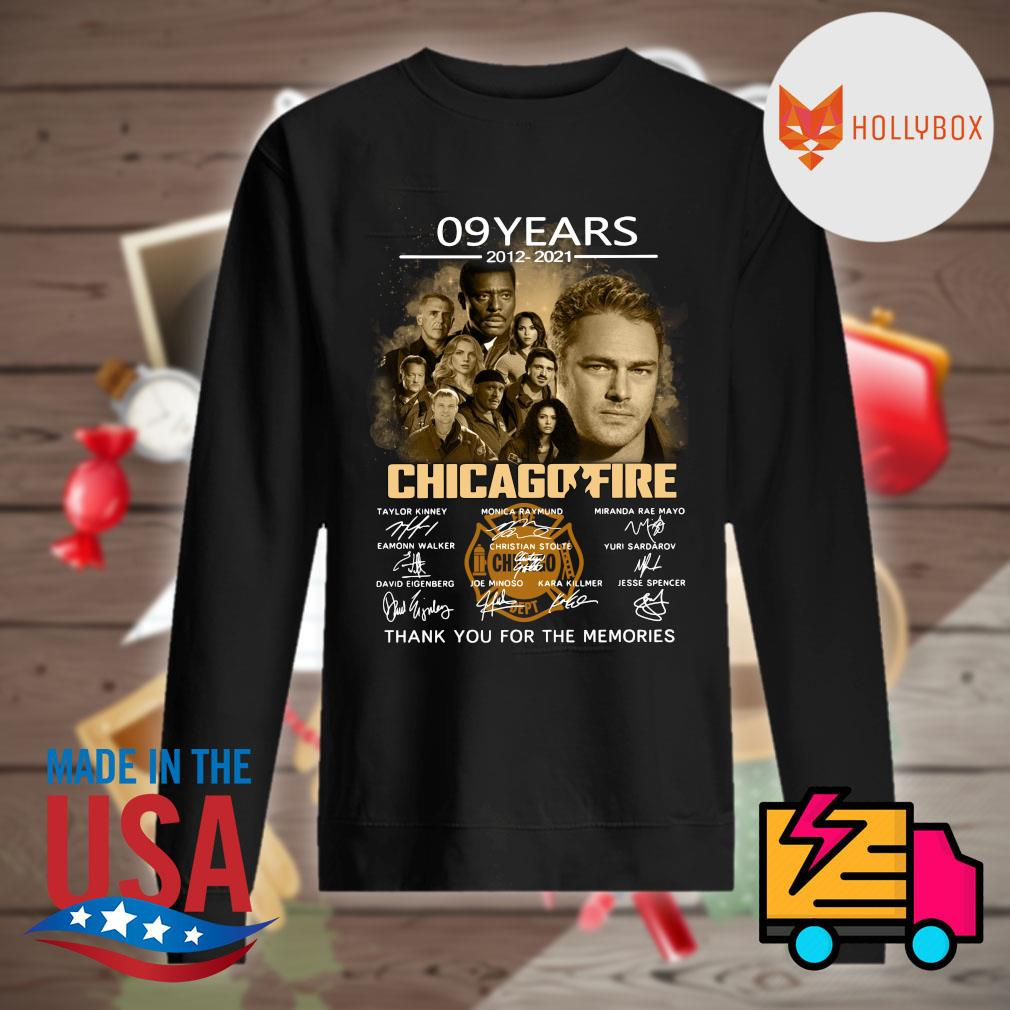 09 years 2012 2021 Chicago Fire signatures thank you for the memories s Sweater