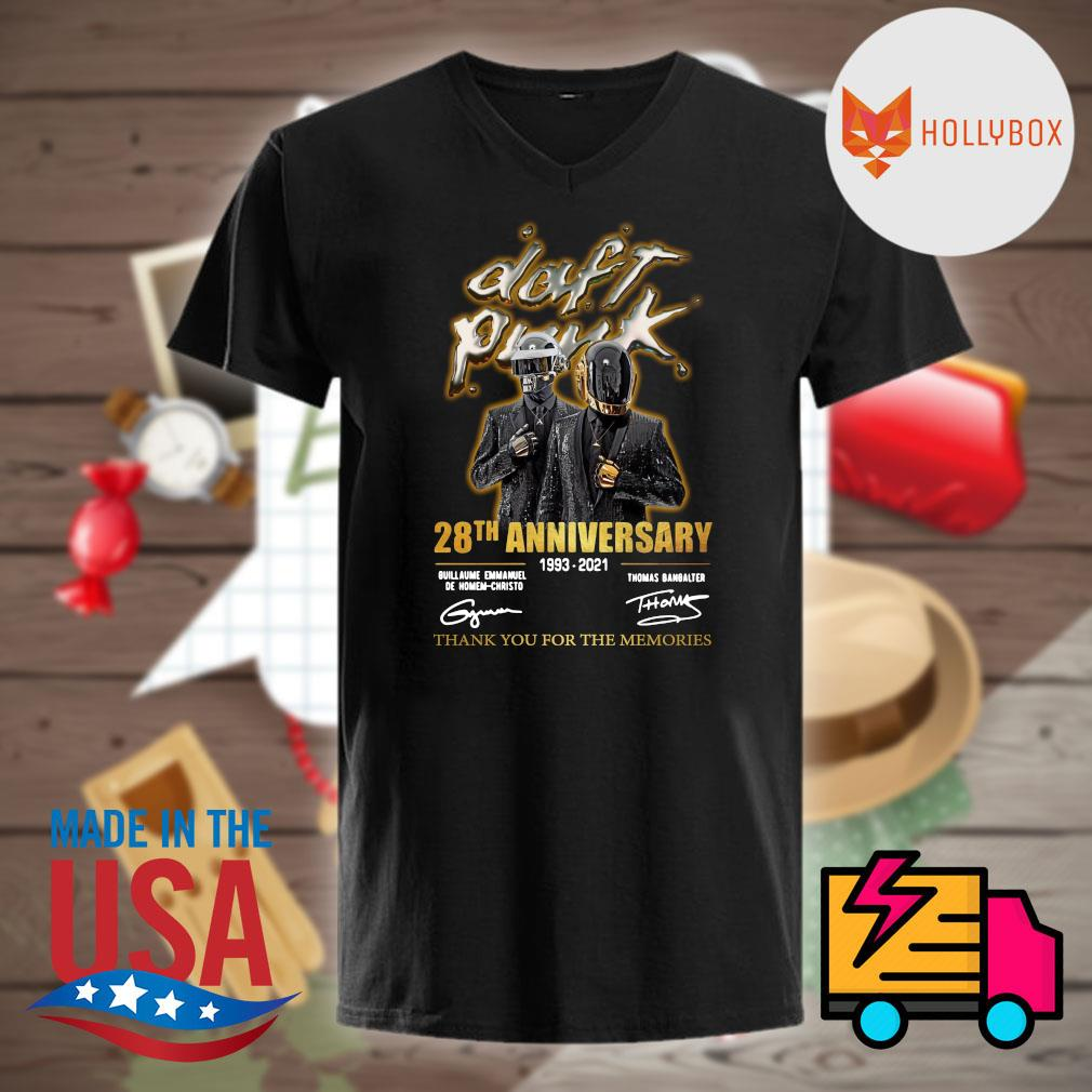 Daft Punk 28th anniversary 1993 2021 signatures thank you for the memories shirt