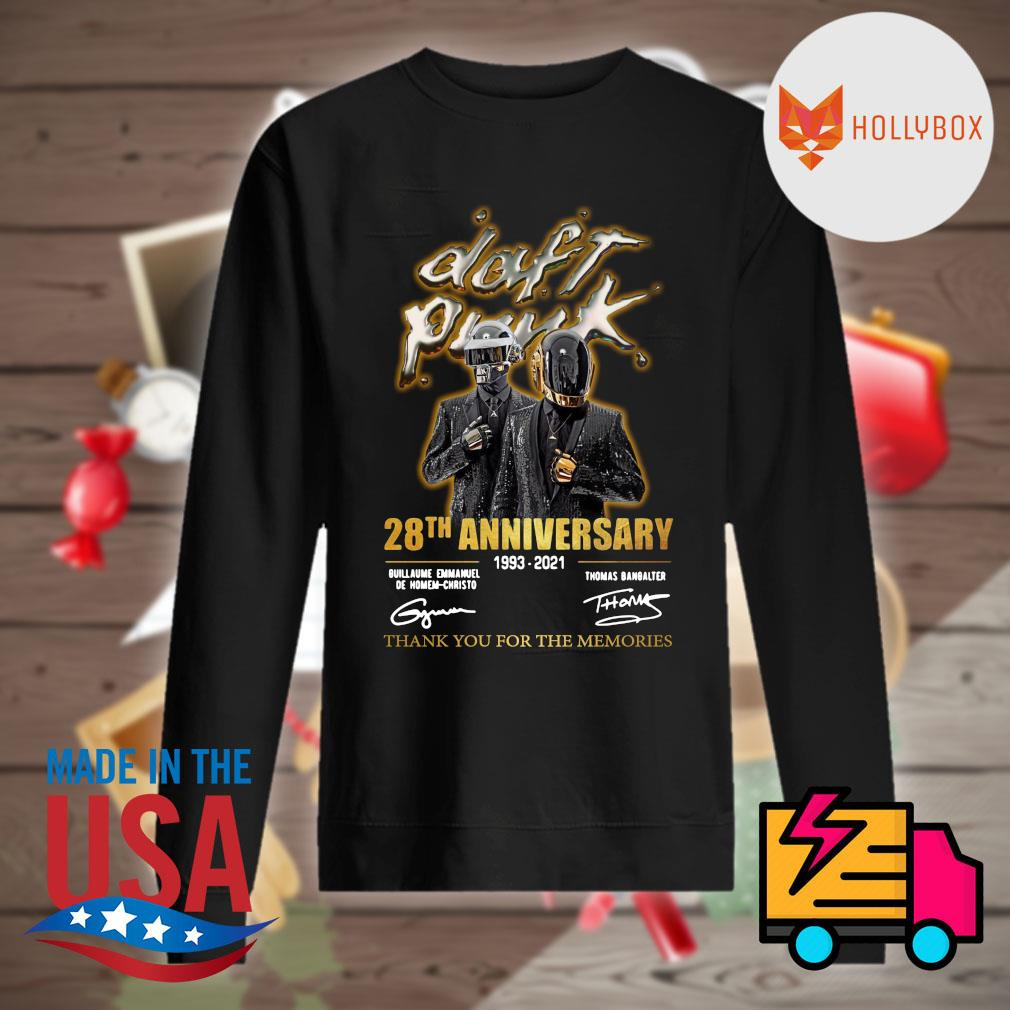 Daft Punk 28th anniversary 1993 2021 signatures thank you for the memories s Sweater