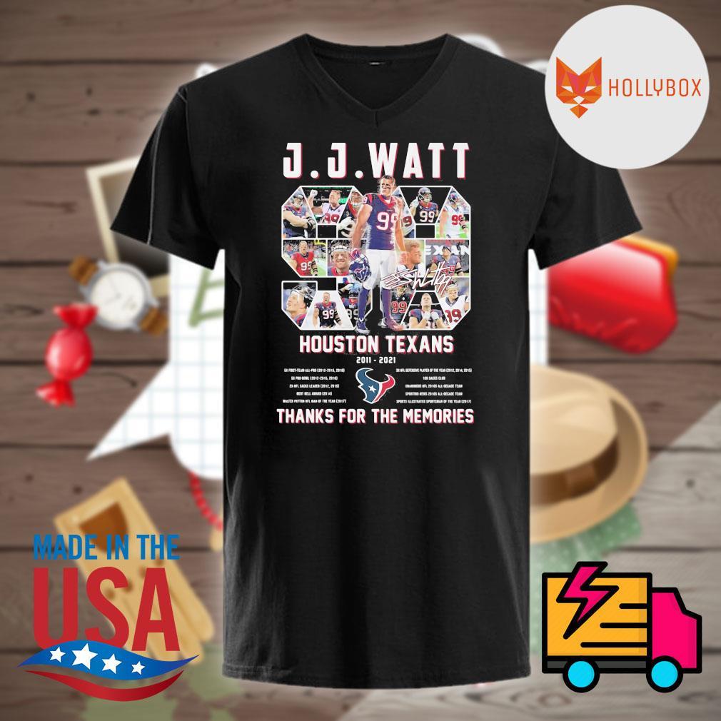J.J.Watt 99 Houston Texans 2011 2021 thanks for the memories shirt