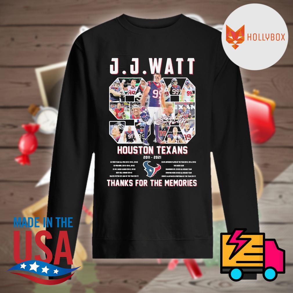 J.J.Watt 99 Houston Texans 2011 2021 thanks for the memories s Sweater