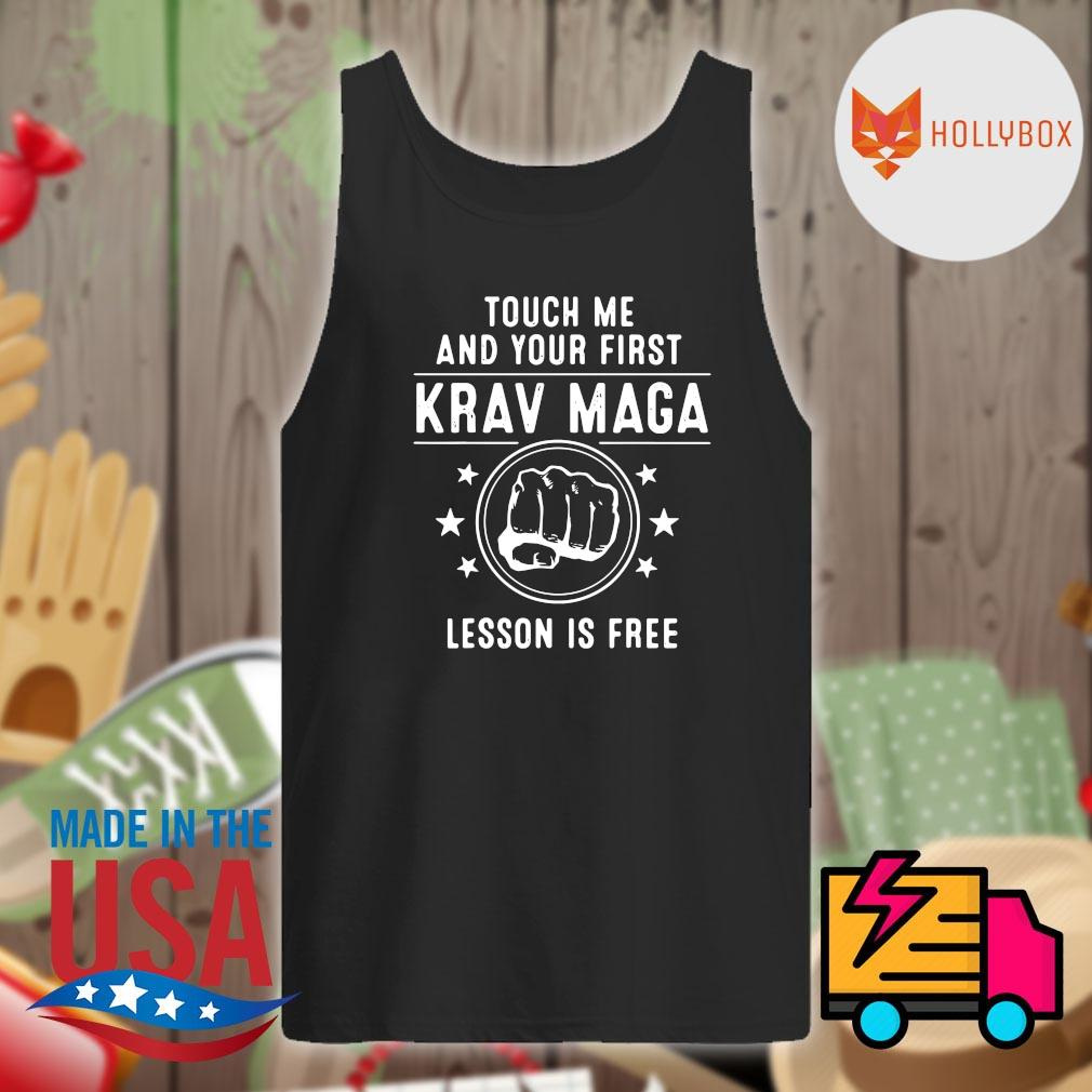 Krav Maga touch me and your first lesson is free s Tank-top