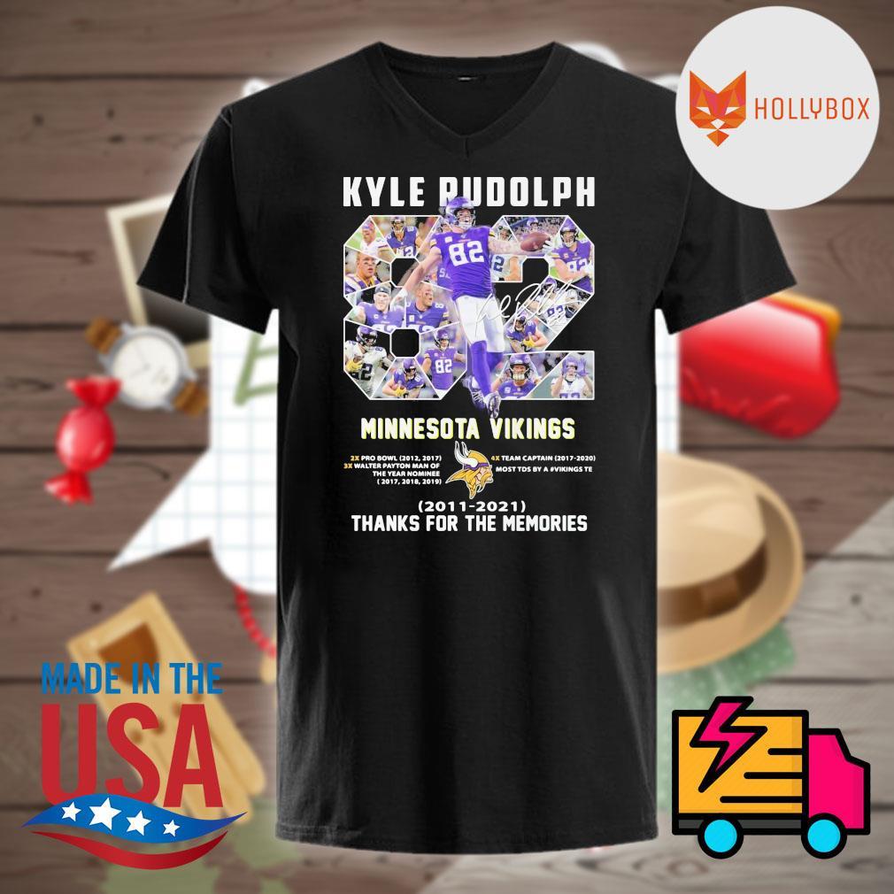 Kyle Rudolph Minnesota Vikings 2011 2021 thanks for the memories shirt