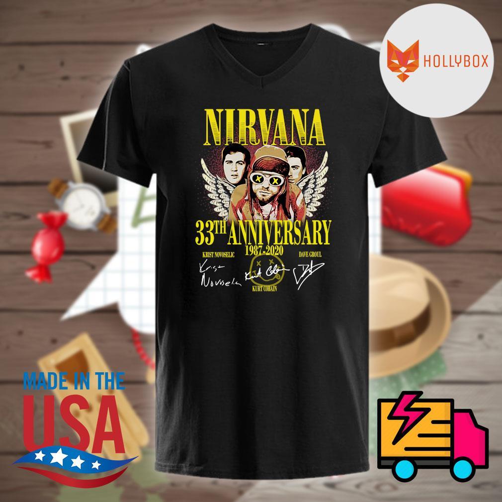 Nirvana 33th anniversary 1987 2020 signatures shirt