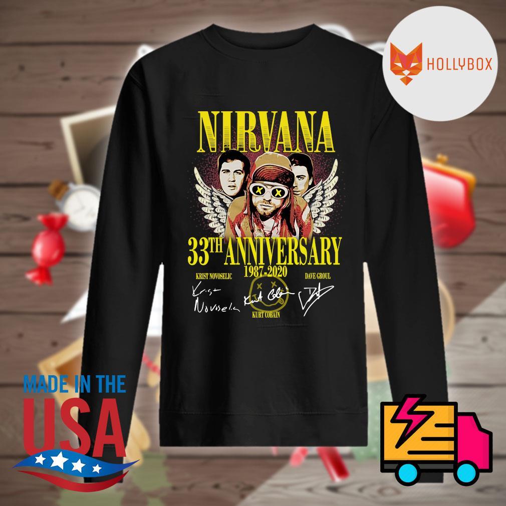 Nirvana 33th anniversary 1987 2020 signatures s Sweater