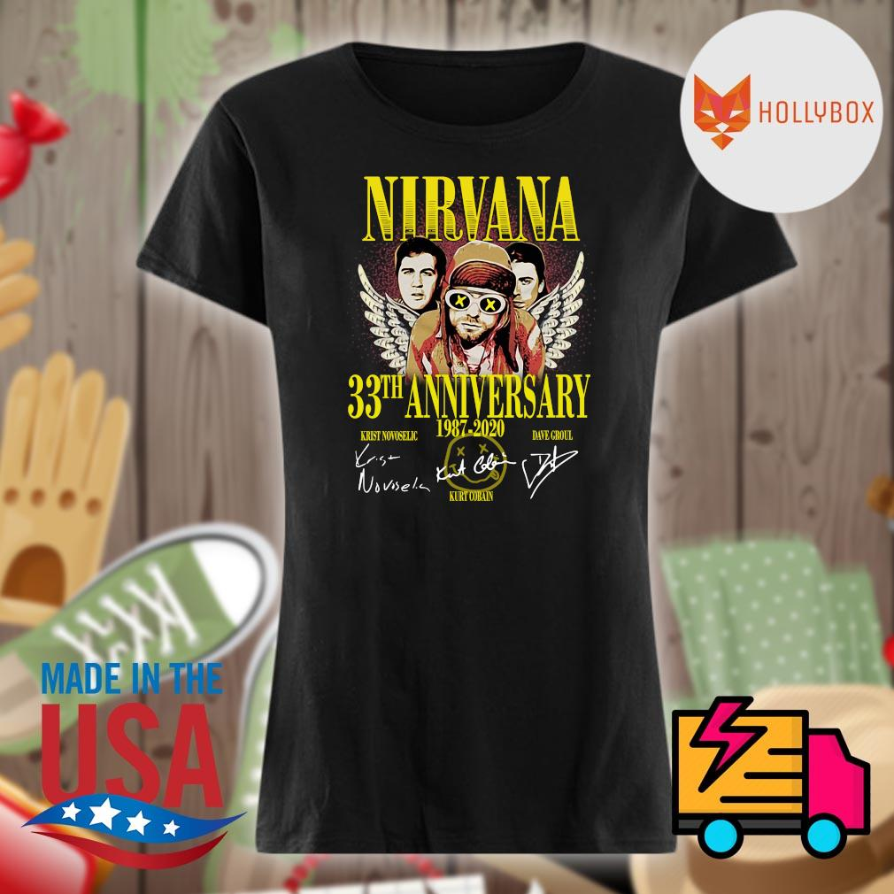 Nirvana 33th anniversary 1987 2020 signatures s V-neck