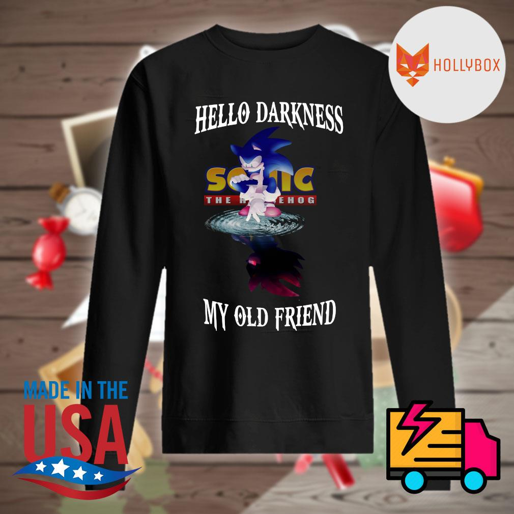 Sonic the Hedgehog hello darkness my old friend s Sweater