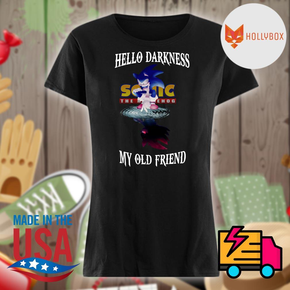 Sonic the Hedgehog hello darkness my old friend s V-neck