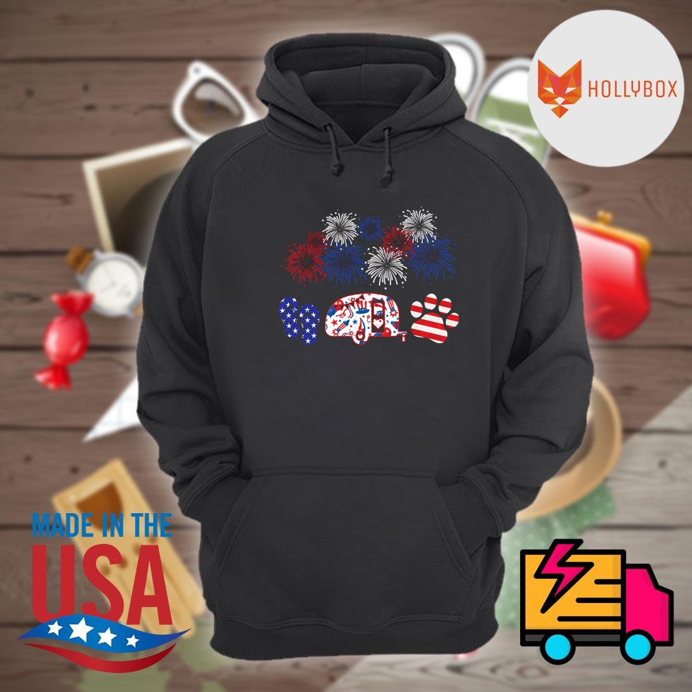 4th July Flip Camping Car Dog s Hoodie