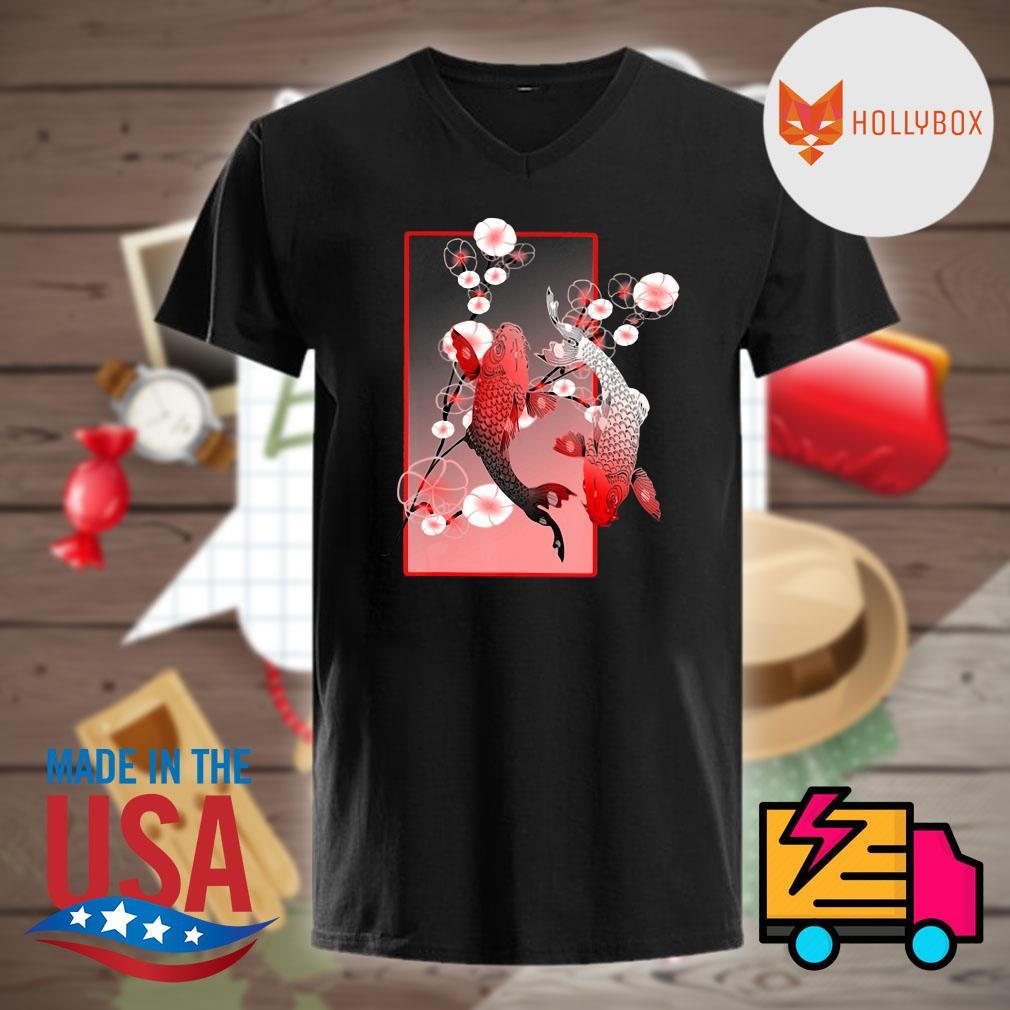 Sakura Cherry Blossom Koi fish shirt