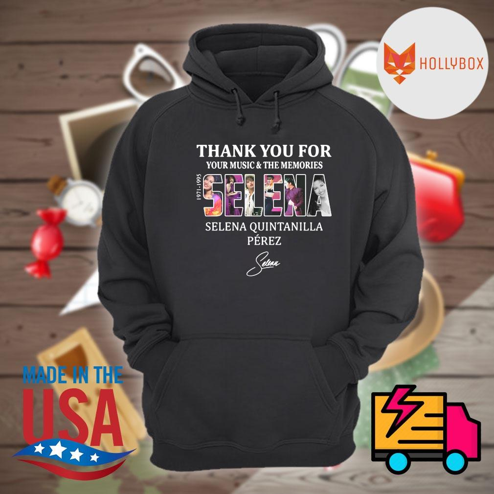 Selena Quintanilla Perez thank you for your music and the memories Selena 1971-1995 signature s Hoodie