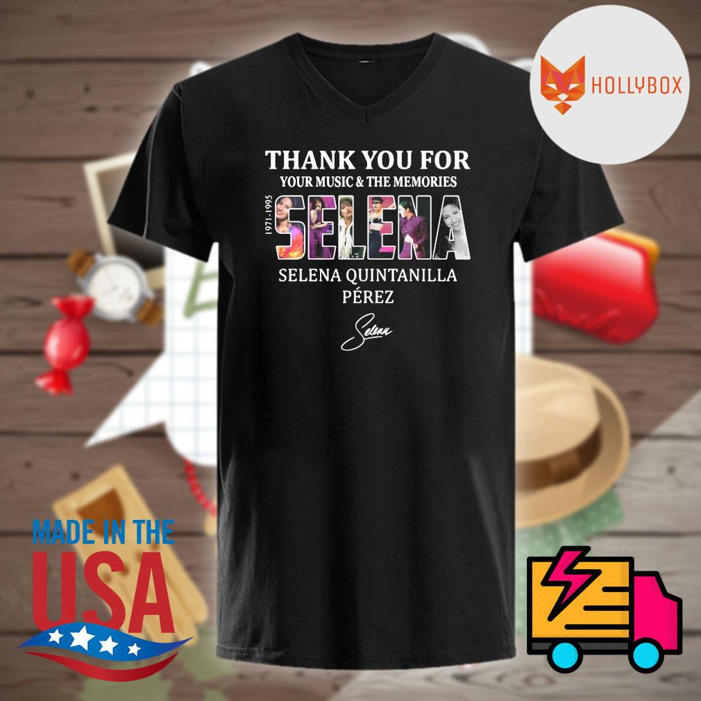 Selena Quintanilla Perez thank you for your music and the memories Selena 1971-1995 signature shirt