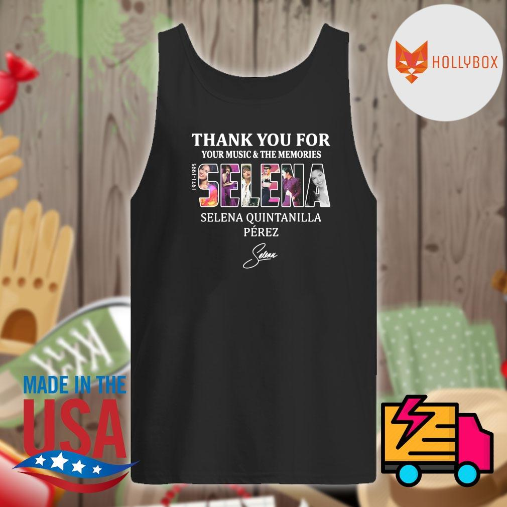 Selena Quintanilla Perez thank you for your music and the memories Selena 1971-1995 signature s Tank-top