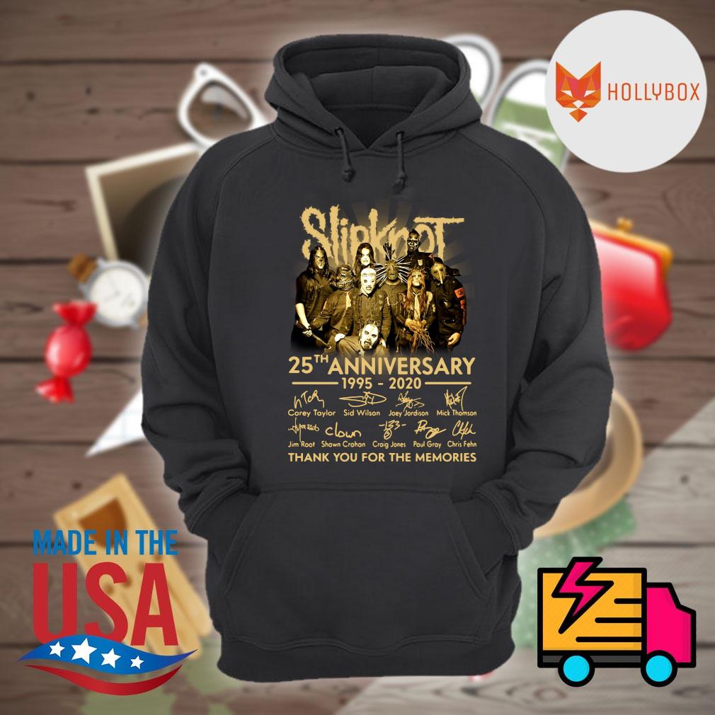 Slipknot 25th anniversary 1995-2020 signature thank you for the memories s Hoodie