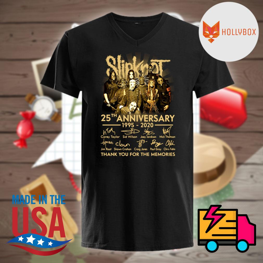Slipknot 25th anniversary 1995-2020 signature thank you for the memories shirt