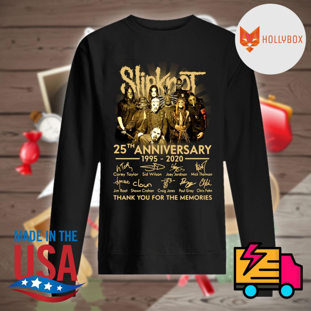Slipknot 25th anniversary 1995-2020 signature thank you for the memories s Sweater