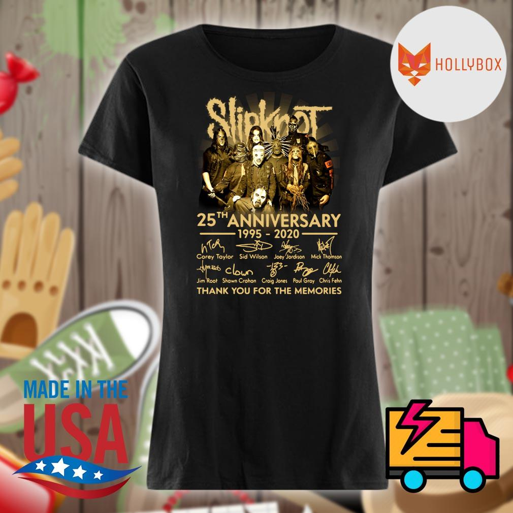 Slipknot 25th anniversary 1995-2020 signature thank you for the memories s V-neck