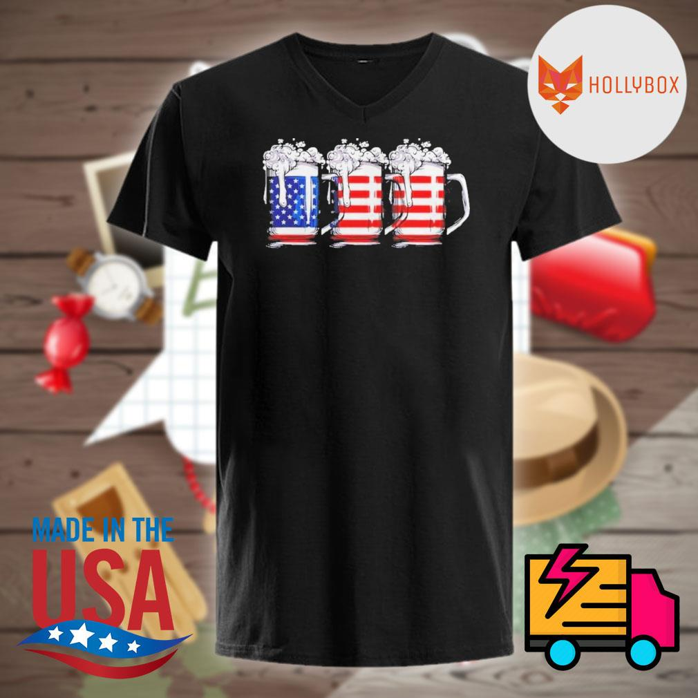 Beer America Happy Independence Day Shirt