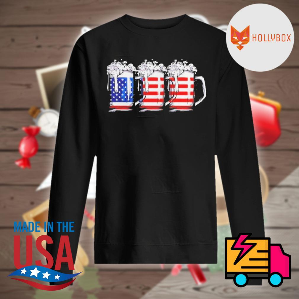 Beer America Happy Independence Day Shirt Sweater