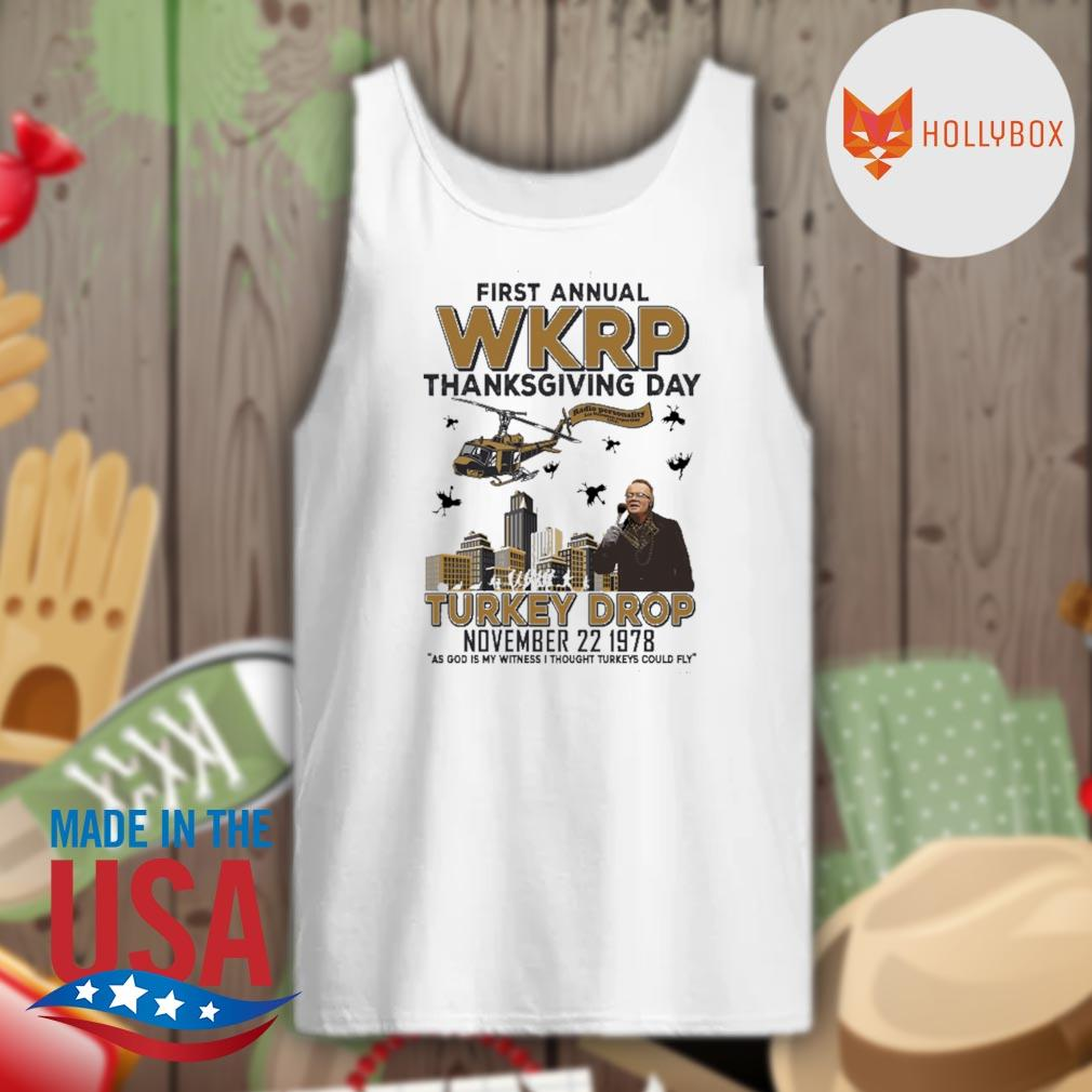 First annual WKRP thanksgiving day Turkey Drop November 22 1978 s Tank-top