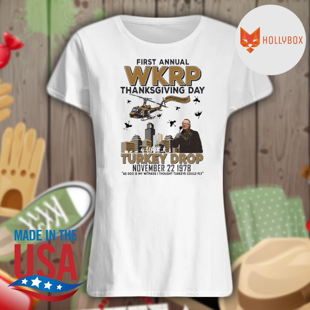 First annual WKRP thanksgiving day Turkey Drop November 22 1978 s V-neck