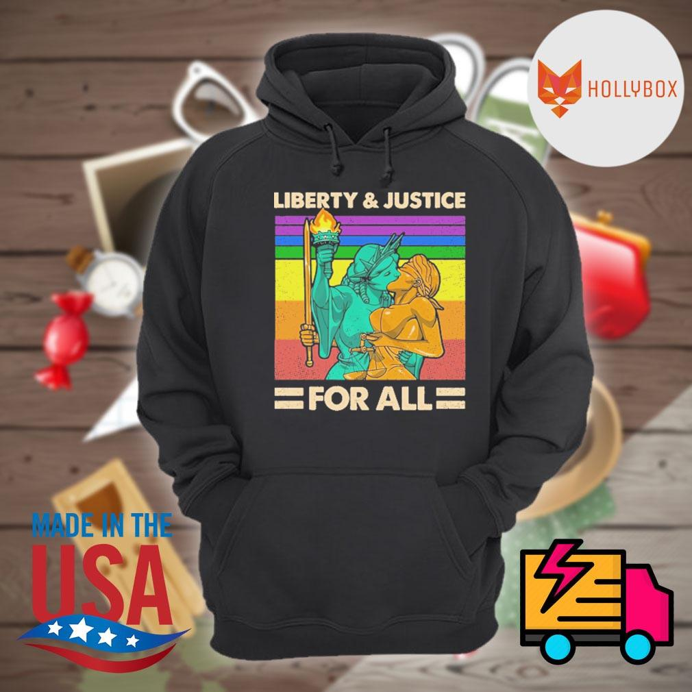 LGBT Liberty and Justice for all vintage s Hoodie