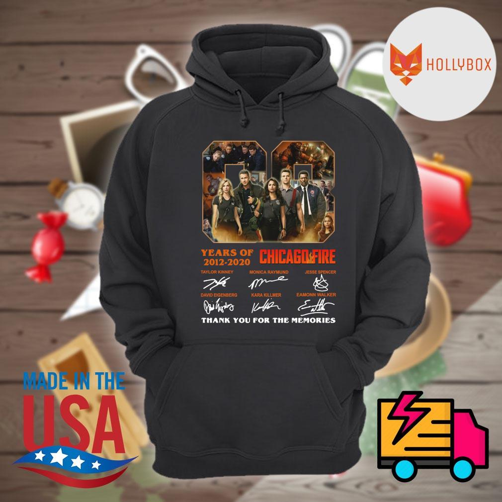 08 years of 2012 2020 Chicago Fire signatures thank you for the memories s Hoodie