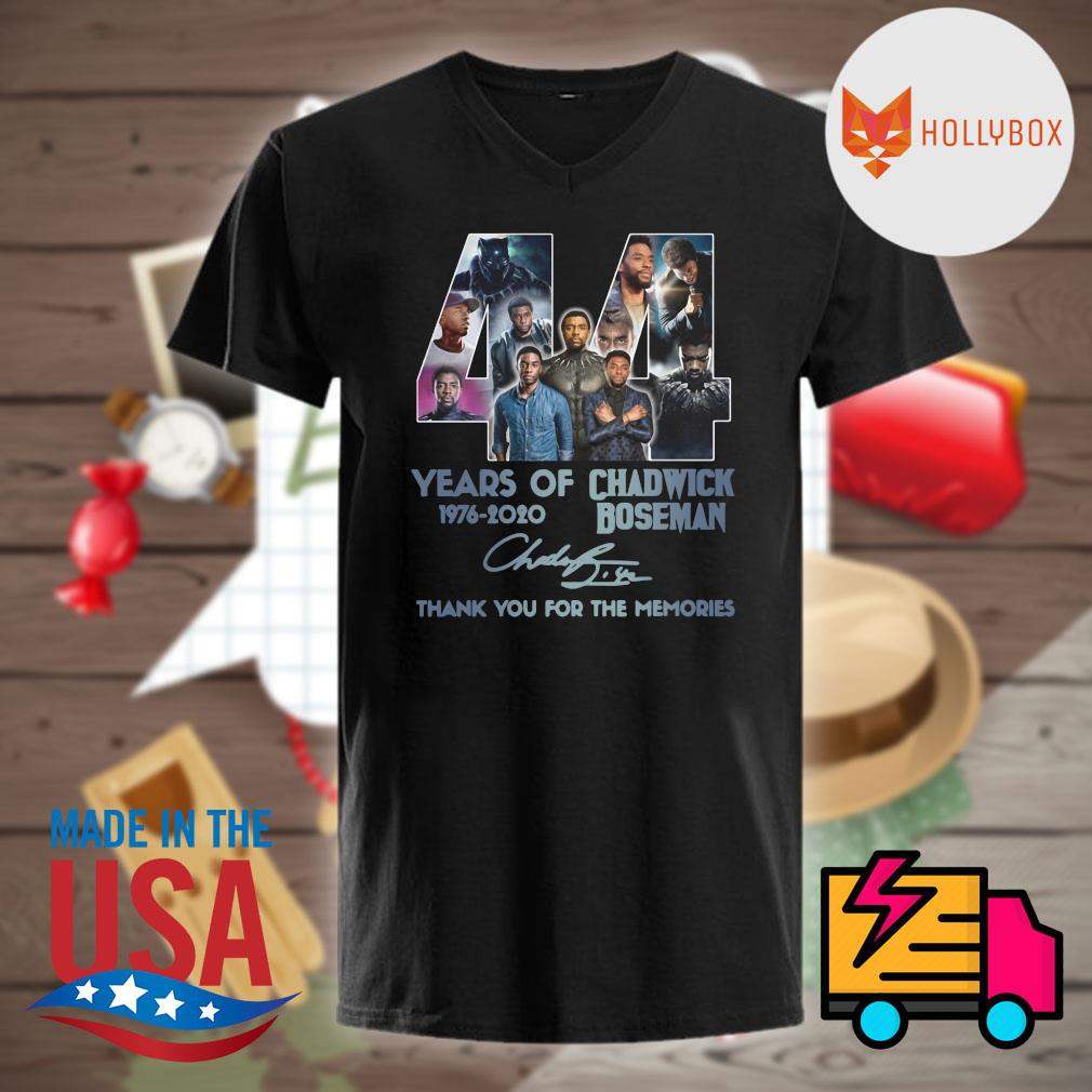 44 years of Chadwick Boseman 1976 2020 signature thank you for the memories shirt