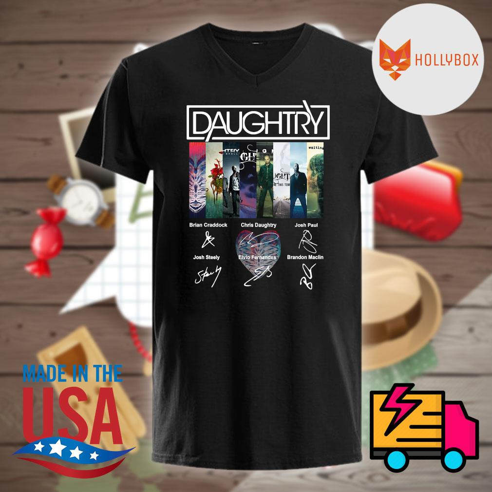 Daughtry Album signatures shirt