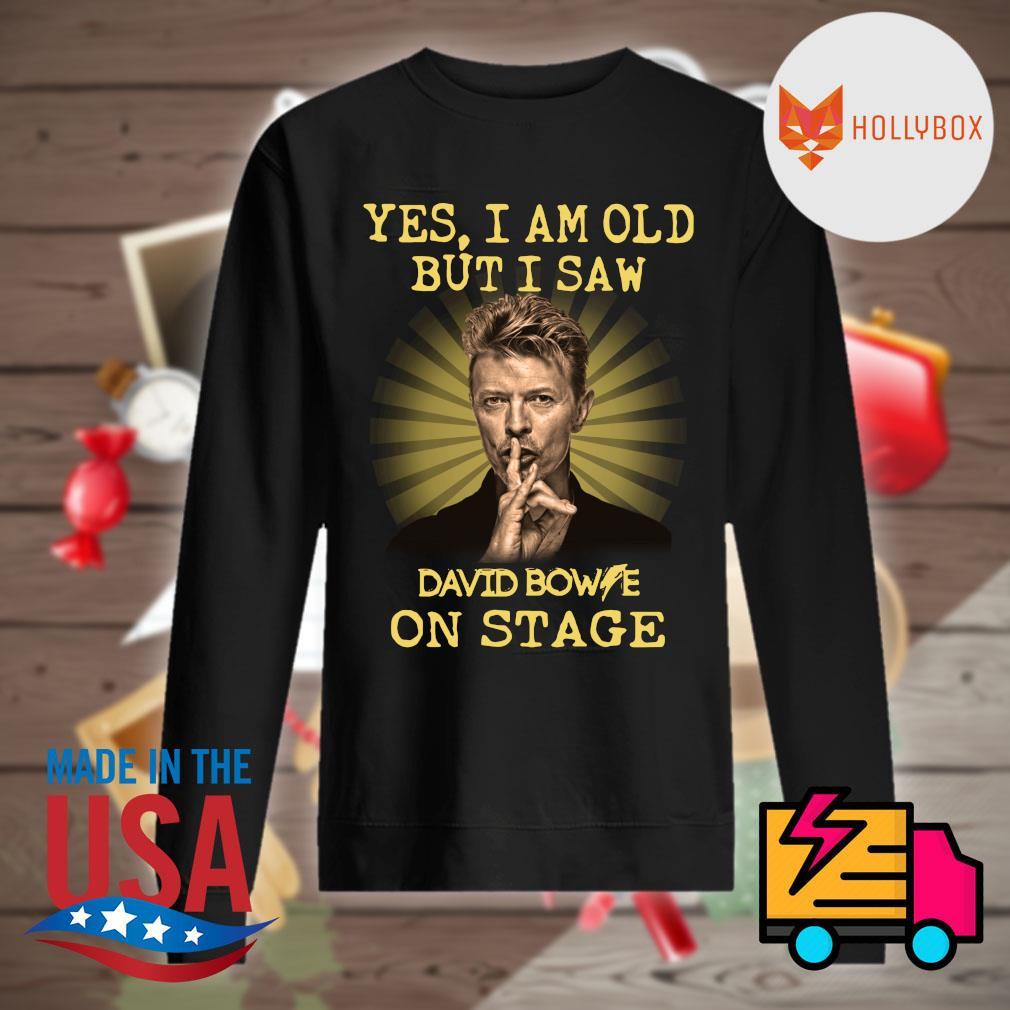 David Bowie yes I am old but I saw one stage s Sweater