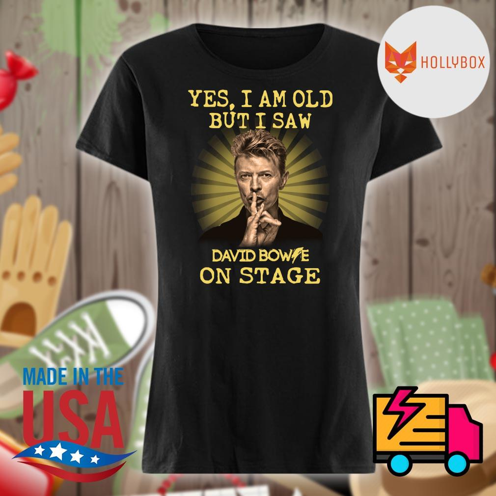 David Bowie yes I am old but I saw one stage s V-neck