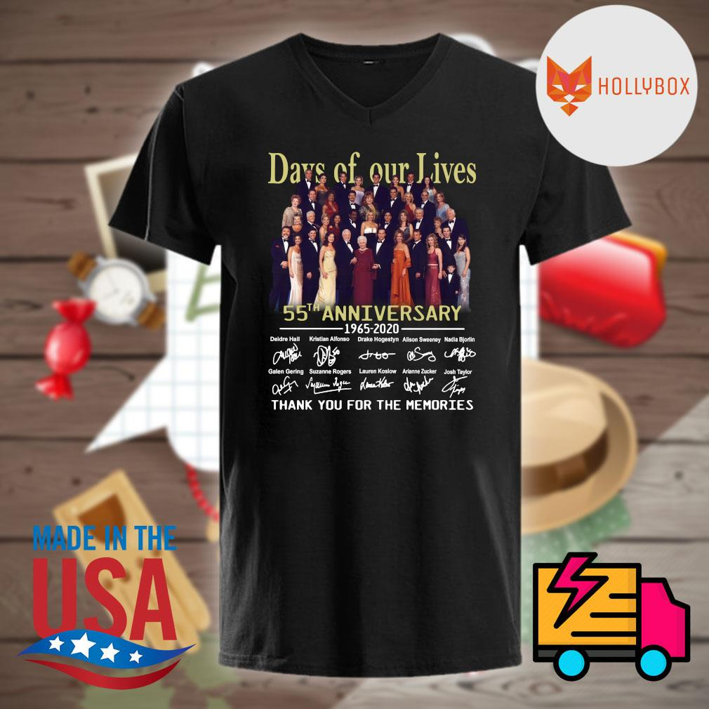 Days of our Lives 55th anniversary 1965 2020 signatures thank you for the memories shirt