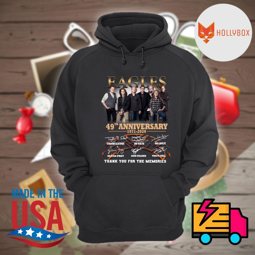 Eagles 50th anniversary 1971 2021 signatures thank you for the memories s Hoodie