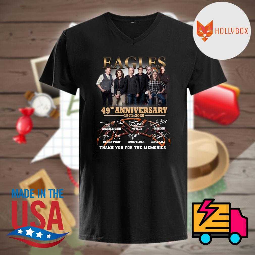 Eagles 50th anniversary 1971 2021 signatures thank you for the memories shirt