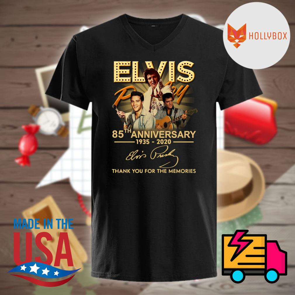 Elvis Presley 85th anniversary 1935 2020 signature thank you for the memories shirt