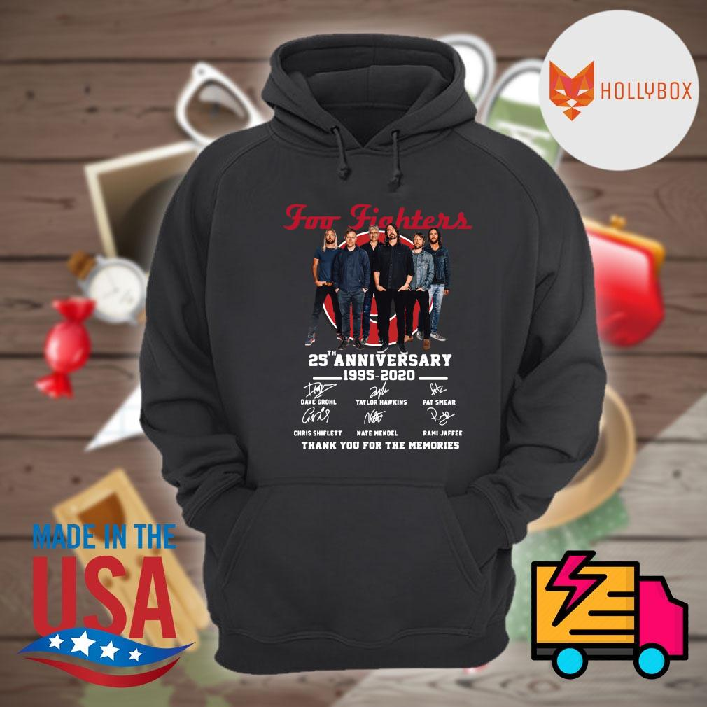 Foo Fighters 25th anniversary 1995 2020 signatures thank you for the memories s Hoodie