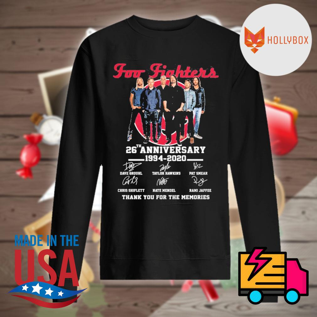 Foo Fighters 26th anniversary 1994-2020 signature thank you for the memories s Sweater