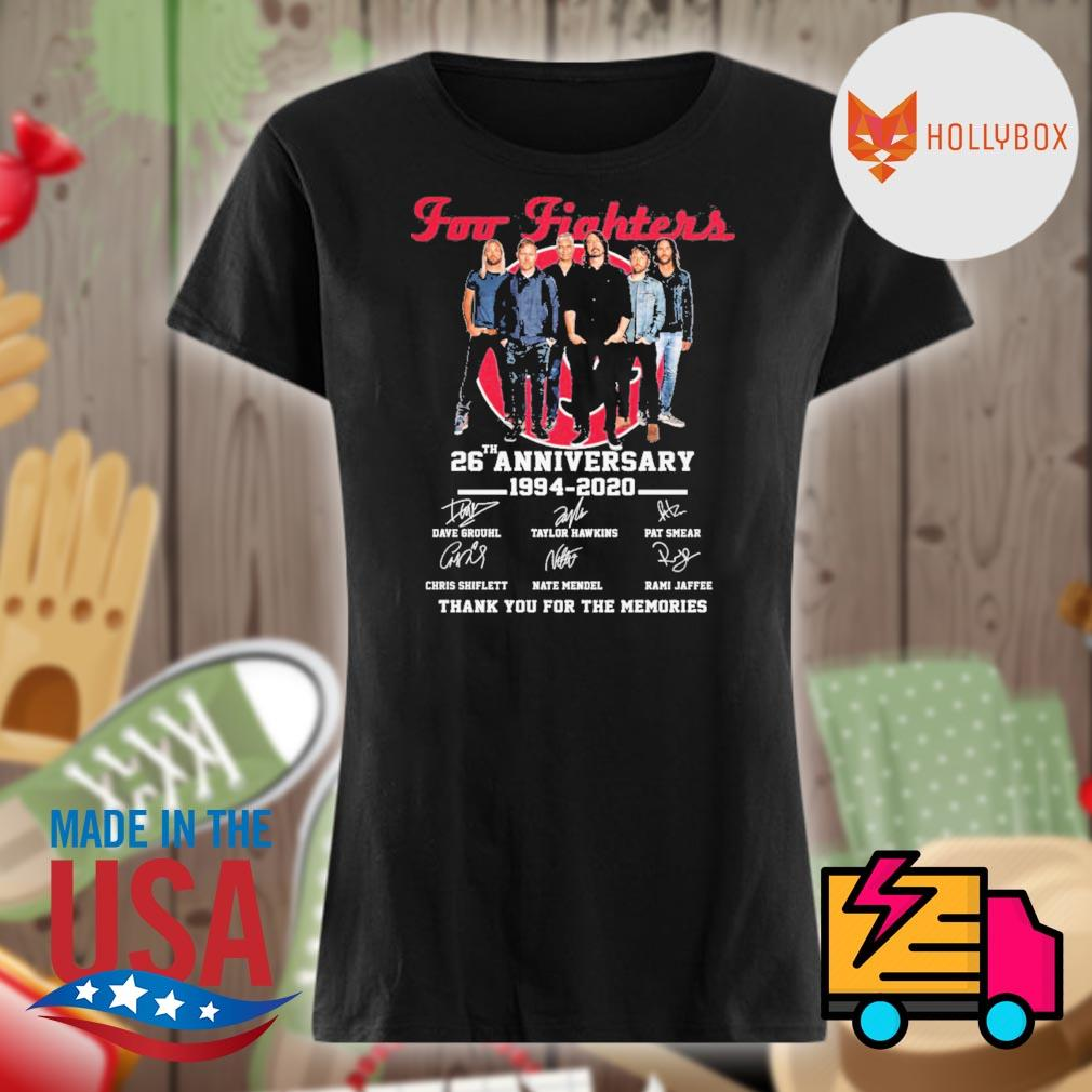 Foo Fighters 26th anniversary 1994-2020 signature thank you for the memories s V-neck