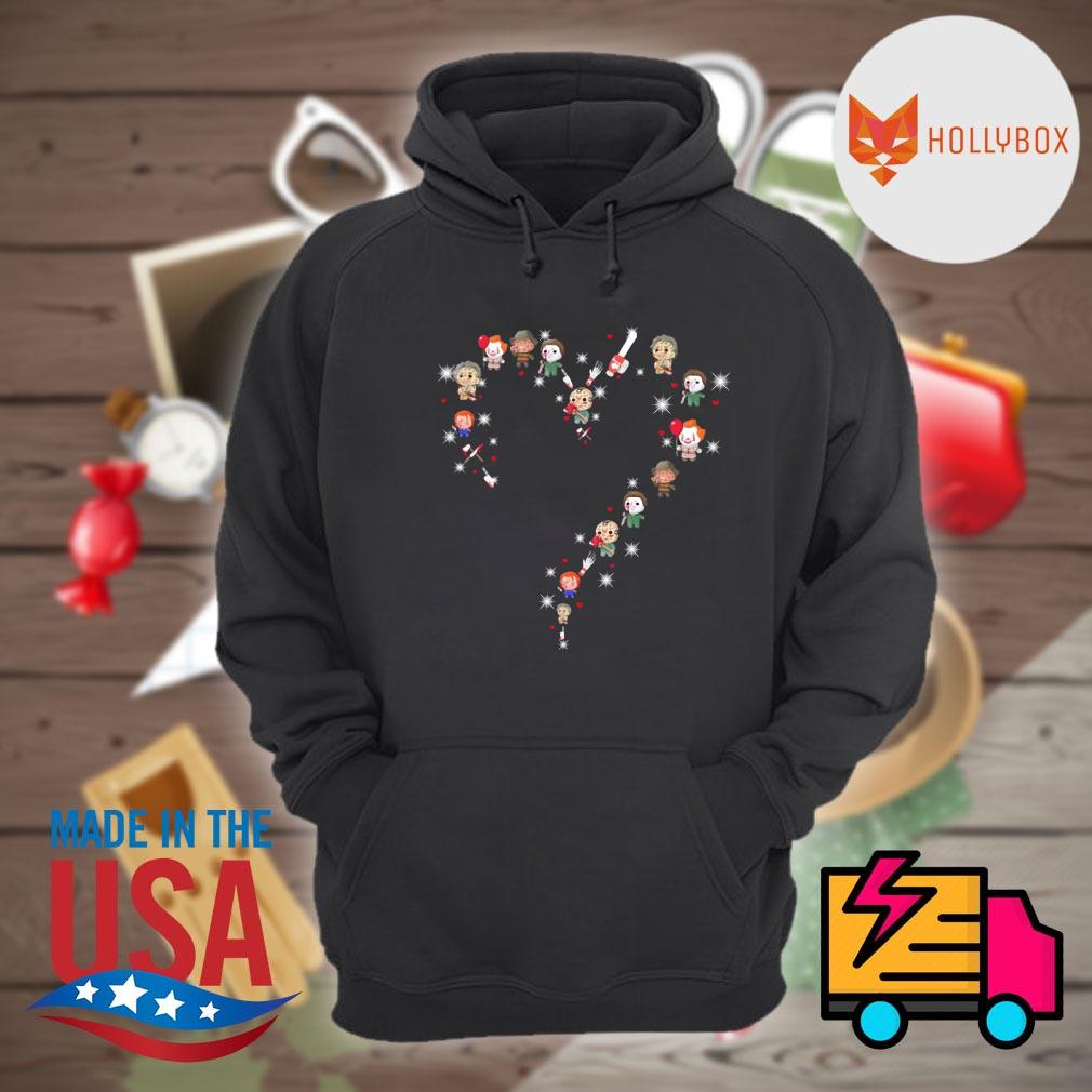 Halloween Horror characters chibi heart light s Hoodie