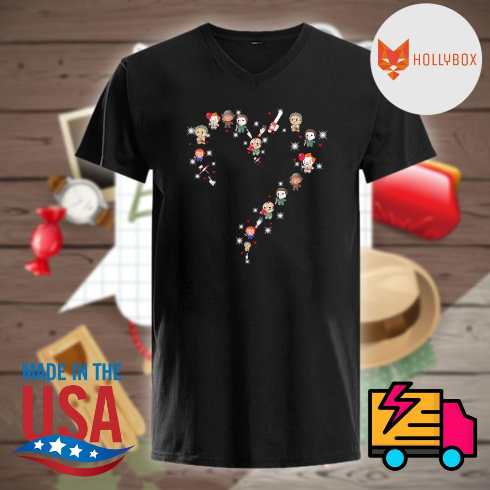 Halloween Horror characters chibi heart light shirt
