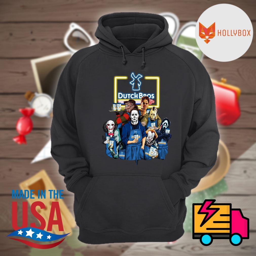 Halloween Horror characters drinking Dutch Bros s Hoodie