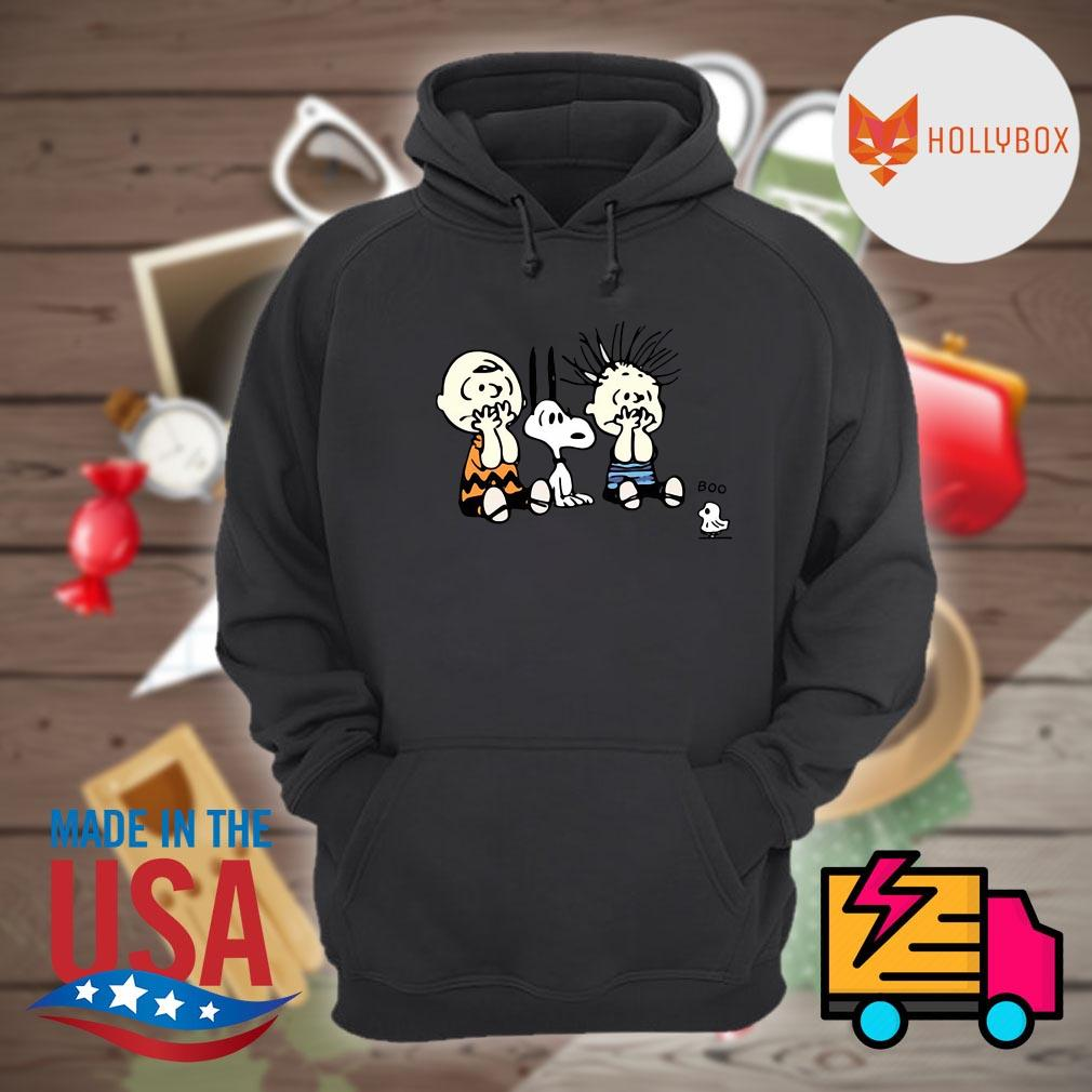 Halloween Peanuts Snoopy Charlie Brown Linus and Woodstock Boo s Hoodie