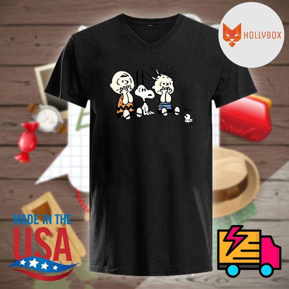 Halloween Peanuts Snoopy Charlie Brown Linus and Woodstock Boo shirt