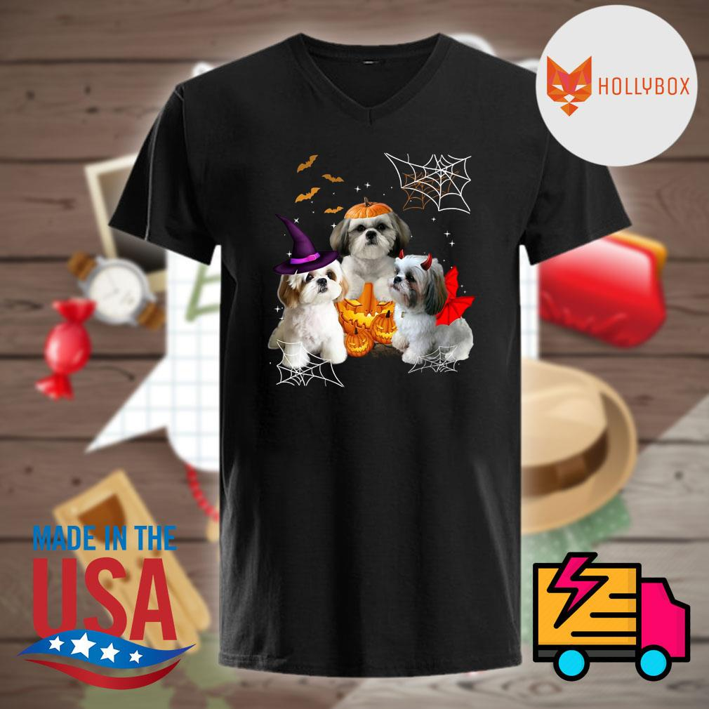 Halloween Shih Tzu witch pumpkin vampire shirt
