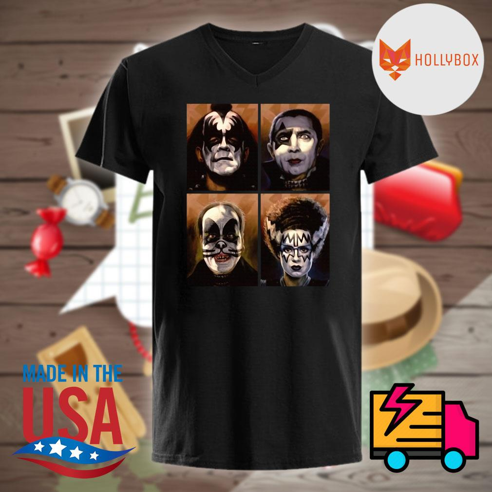 Kiss Neon Rock Band picture shirt