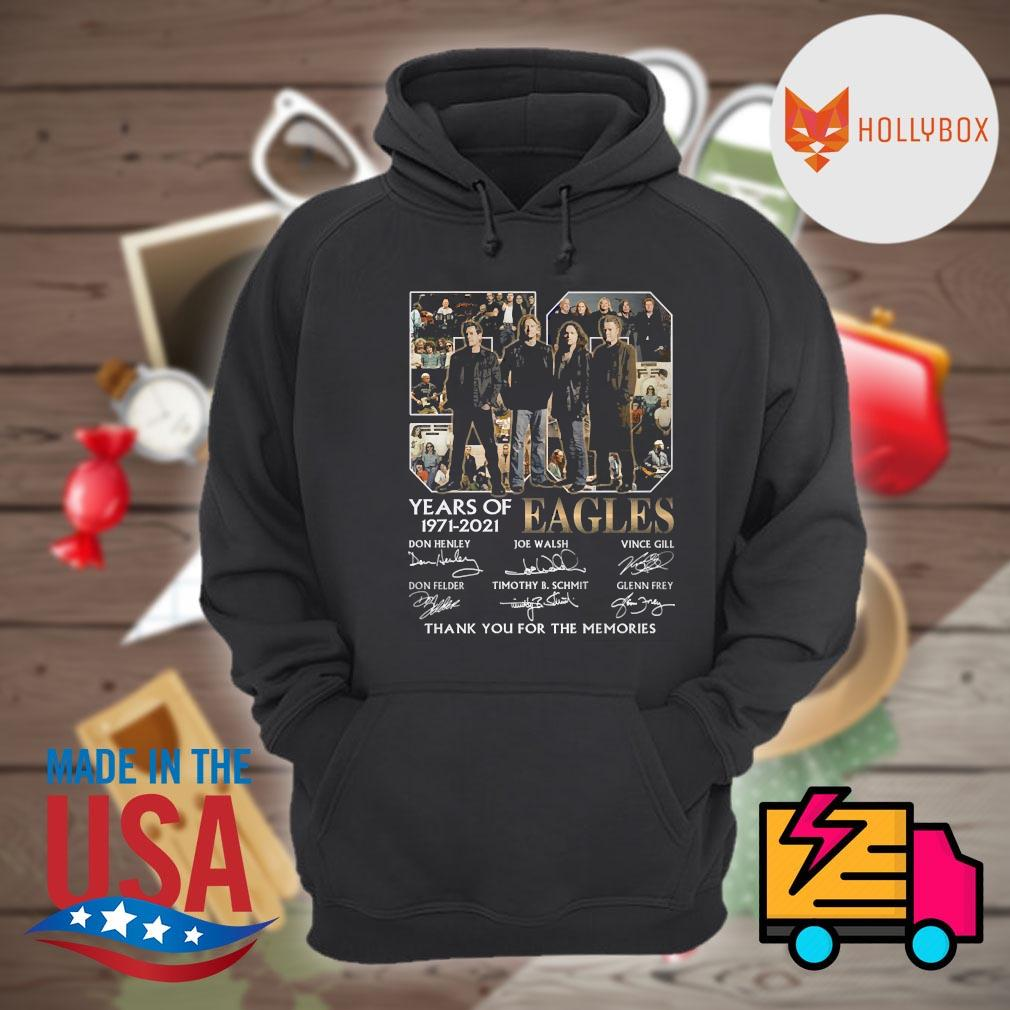 50 years of Eagles 1971 2021 signatures thank you for the memories s Hoodie
