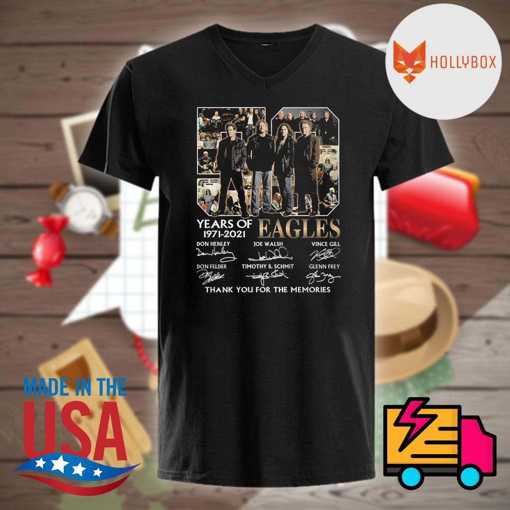 50 years of Eagles 1971 2021 signatures thank you for the memories shirt