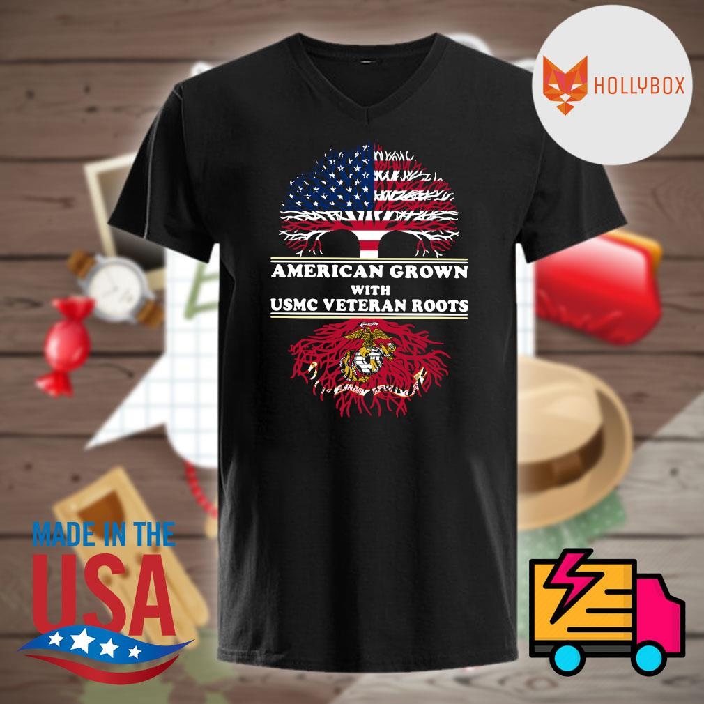 American grown with USMC veteran roots shirt